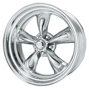 17x8 American Racing Torq Thrust Ii 2 Polished Wheel 5x4 75 Vn5157861 11mm