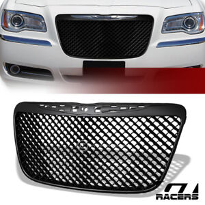 For 2011 2014 Chrysler 300 300c Matte Black Mesh Front Bumper Grill Grille Guard