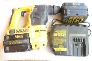 Dewalt Dc223 Sds Hammer Drill 24 Volt Two Fan cooled Batteries Charger 7 8