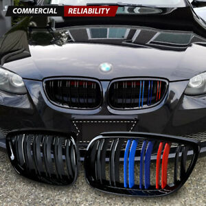 Gloss Black Front Kidney Grill M color For Bmw E92 E93 M3 328i 335i Coupe 07 10