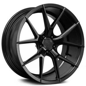 4pcs 19 Staggered Verde Wheels V99 Axis Satin Black Rims