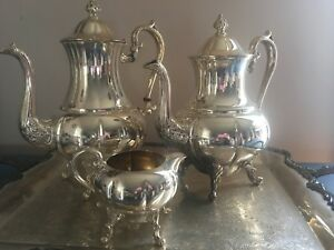Vintage Sheridan Silver Plated Tea Coffee Service Set 4 Pieces