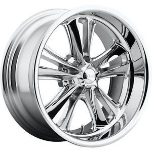 17x7 Chrome Foose Knuckle F097 Wheels 5x4 5 1 Fits Ford Fairlane Mustang