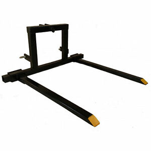 Titan 3 Point Hitch Pallet Fork Attachment Category 1 Tractor Carryall 3pt pf