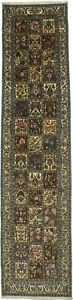 One Of A Kind Garden Floral Runner Bakhtiari Persian Rug Oriental Carpet 3x13