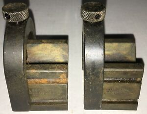 Starrett No 271 Set Of Matched V blocks W Clamps As Pictured Case Hardened