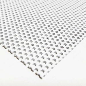 White Painted Aluminum Perforated Sheet 0 040 X 24 X 36 0 078 Hole