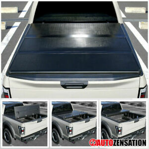 04 15 Ford F150 6 7 Secure Hard Trifold Tonneau Cover Short Bed Pickup 1pc