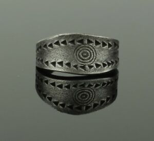 Ancient Viking Silver Ring Circa 9th 10th Century 023