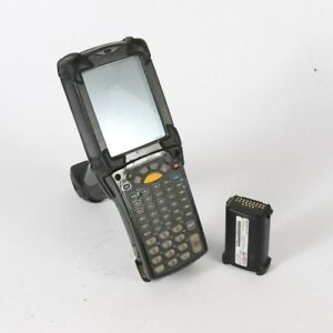 Symbol Motorola Mc9090 Wireless Barcode Scanner Defective Screen W Battery