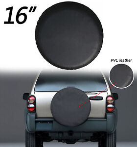 16 Black Car Spare Tire Tyre Wheel Cover For Jeep Liberty Wrangler U S