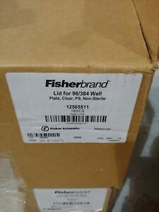 Fisherbrand 12565511 Lid For 96 384 Well Microplates Plate Clear 180 In Case