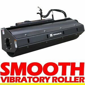Vibratory Roller Attachment For Mini Skid Steer Loaders Asvterex Rc30 pt30 36