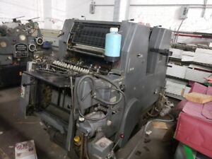 Heidelberg Gtoz 52 Two Color Yr 1984 Standard Damp geared For Numb
