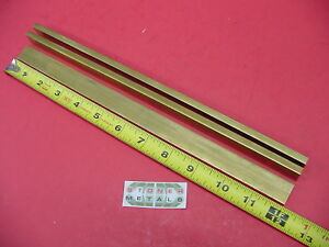 3 Pieces 1 4 X 1 C360 Brass Flat Bar 12 Long Solid Mill Stock H02 25 x 1 0