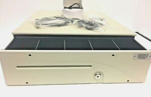 Apg Series 100 T441 3a cw1616 Electronic Cash Drawer With Keys 16 X 16 8 Ivory