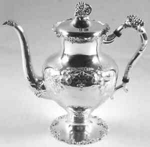 International Vintage Chased Silverplate Coffee Pot 3380546