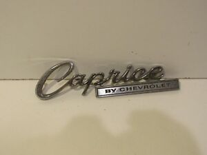 Chevrolet Caprice Metal Script Emblem Nameplate Ornament Trim Badge Collectible