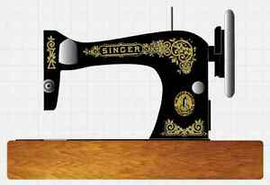 Singer Model 28 128 Gingerbread Style Sewing Machine Restoration Decals