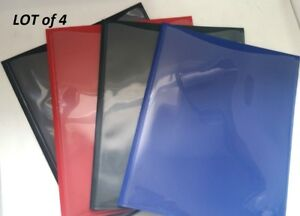 lot Of 4 Assorted Color Poly Plastic Two Pocket Project Report Folders Rg15 22