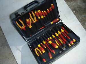 Wiha Electrician Tool Set Lineman 28 Piece 1000 Volt Softfinish Generator Tools