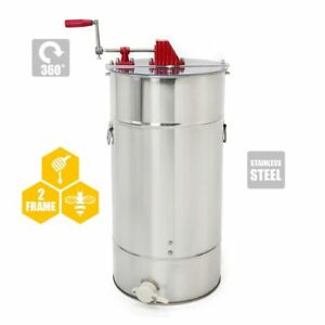 Two Frame Honey Extractor Beekeeping Equipment Tool Premium Stainless Steel New