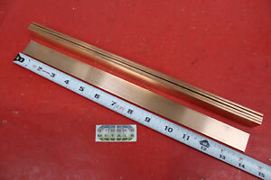 5 Pieces 1 8 X 1 C110 Copper Bar 14 Long Solid Flat Mill Bus Bar Stock H02