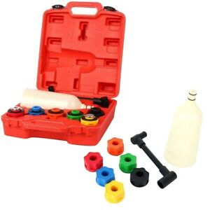 New 8pcs Oil Funnel Filling Kit 6 Adapters Automotive Tool For Most Car Truck