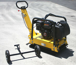 Walk Behind Vibratory Dirt Plate Compactor Rammer Driveway Paver 6 5hp Gas Power