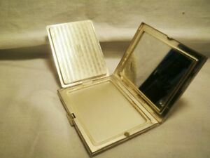Vintage Rare Antique Sterling Silver Elgin American Powder Box Compact