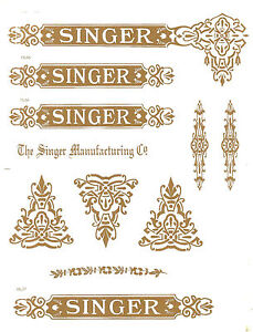 Singer Model 27 127 Celtic Style Sewing Machine Restoration Decals