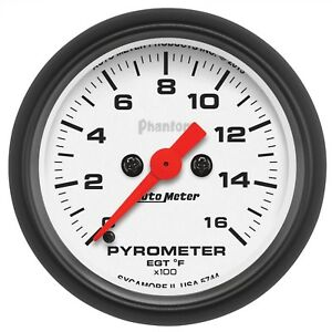 Autometer Phantom Egt Pyrometer 2 1 6 Electrical Gauge 5744
