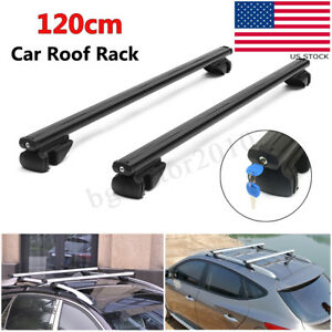 48 Aluminum Auto Car Top Roof Rack Cross Bar Carrier Adjustable Lock