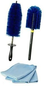 Wheel Brush Kit Ez Detail Brush Combo W Chrome Polishing Towels