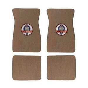 Acc Floor Mats Shelby Cobra Parchment 1965 1973 Mustang