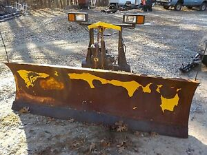 8 Fisher Minute Mount 8 Foot Snow Plow Electric Hydraulic Set Up No Shipping