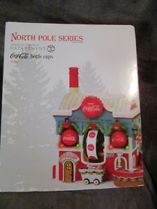 North Pole Series  Dept. 56.  Coca Cola Bottle Caps  NEW