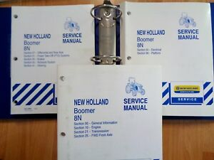 New Holland Boomer 8n Tractor Factory Service Repair Manual Set In Binder Oem