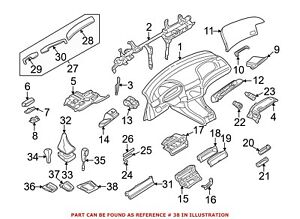 For Bmw Genuine Automatic Transmission Shift Cover Plate 51168209372