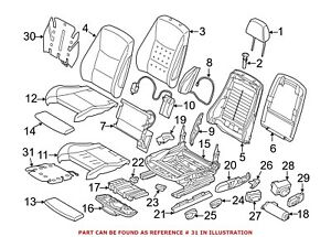 For Bmw Genuine Seat Heater Pad Front Right Lower 64117243561