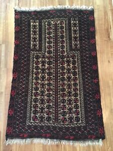 Rare Vintage Middle Eastern Persian Islamic Prayer Rug Rare Kazak