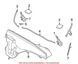 For Bmw Genuine Headlight Washer Hose Front Right 61667267805