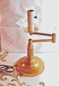 Antique Mid Century Brass Bankers Table Office Desk Piano Lamp Extendable Arm Vg