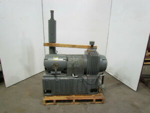 Leybold Heraeus Tr400 15hp Vacuum Pump W pump Heat Exchanger 230 460v 3ph