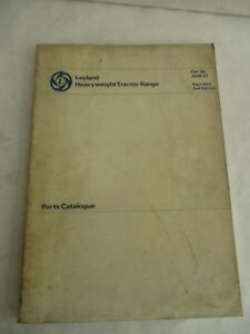 British Leyland Heavyweight Tractor Range Parts Catalog Manual akm23 1977