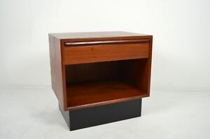 A Neat Mid Century Norwegian Modern Westnofa Night Stand With Drawer 1960 S