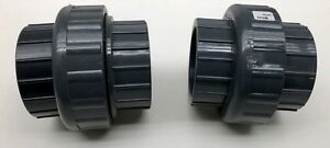 X2 New Charlotte Union 3 Pvc 1 Sch 80 F1970 Pvc Pipe Fitting Free Shipping