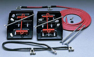 Taylor 48500 Dual Battery Relocation Kit With Cable Kit