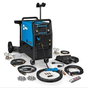 Miller Multimatic 255 Pulsed Multiprocess Welder W cart And Tig Kit 951768