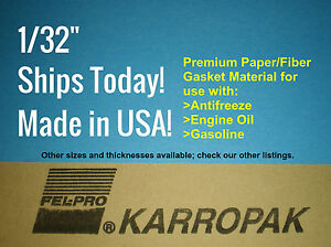 3 Pack Of 1 32 6x9 Paper Fiber Gasket Material Fel pro Engine Car Truck Gas Oil